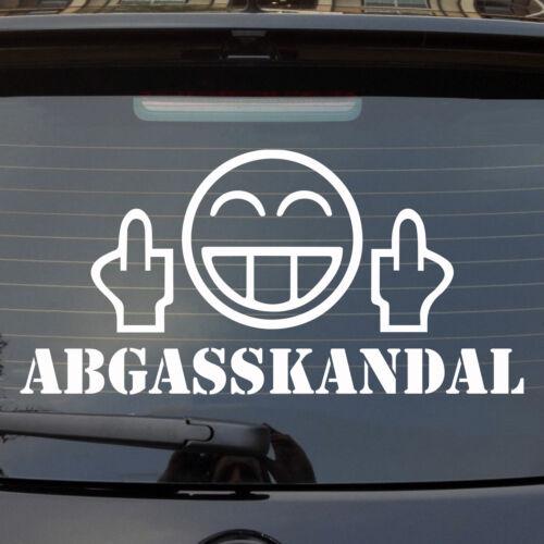 Auto Aufkleber Fck Abgasskandal Smiley Fun Heckscheibenaufkleber Sticker