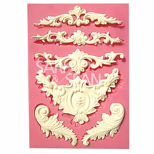 M0526 European relief lace mold fondant cake molds kitchen baking Decoration