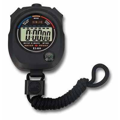 Impermeable Digital LCD Stopwatch Cronógrafo Temporizador Contador Deportivo