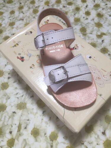 Girls Buckle Sandals White Startrite Bailey Childrens