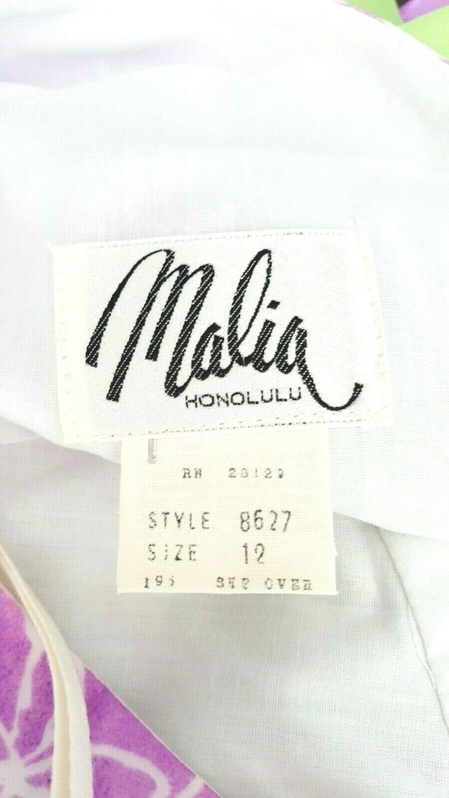 Vintage 60s Malia Honolulu Dress Size Medium Empi… - image 7