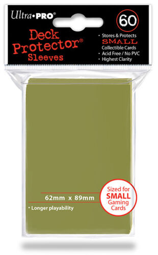 60ct Metallic Gold Deck Protector Sleeves Yugioh Card Ultra Pro 62 x 89mm