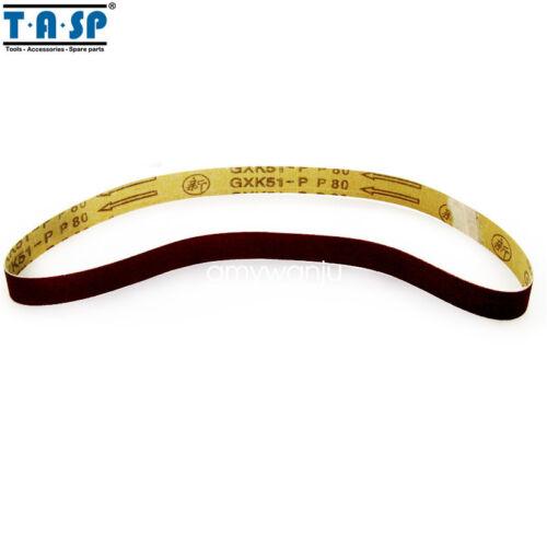 "5PC 1/""x30/"" 25x762mm ponçage ceintures 60 80 120 240 Grain Abrasif Ponceuse Power Tools"