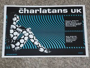 La-Charlatans-GB-Concierto-Poster-San-Diego-University-Feb-1991