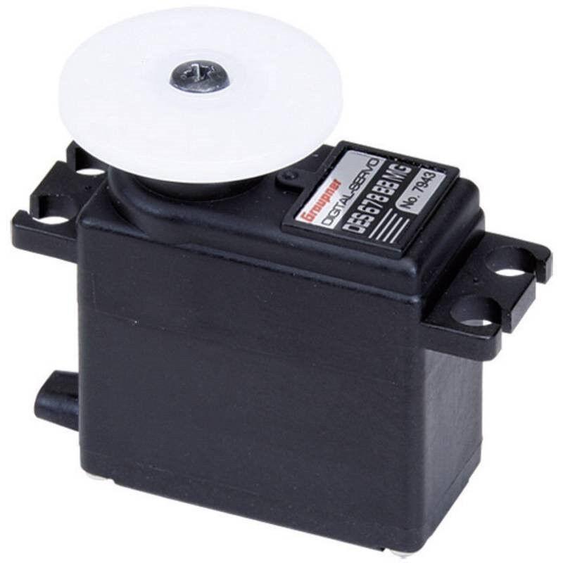 Graupner Midi Servo DES 678 BB, MG Servo digitale Materiale trasmissione: Metall