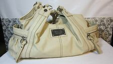 RELIC BRAND HOBO STYLE SHOULDER BAG IVORY PURSE BRAIDED STRAPS FAUX LEATHER
