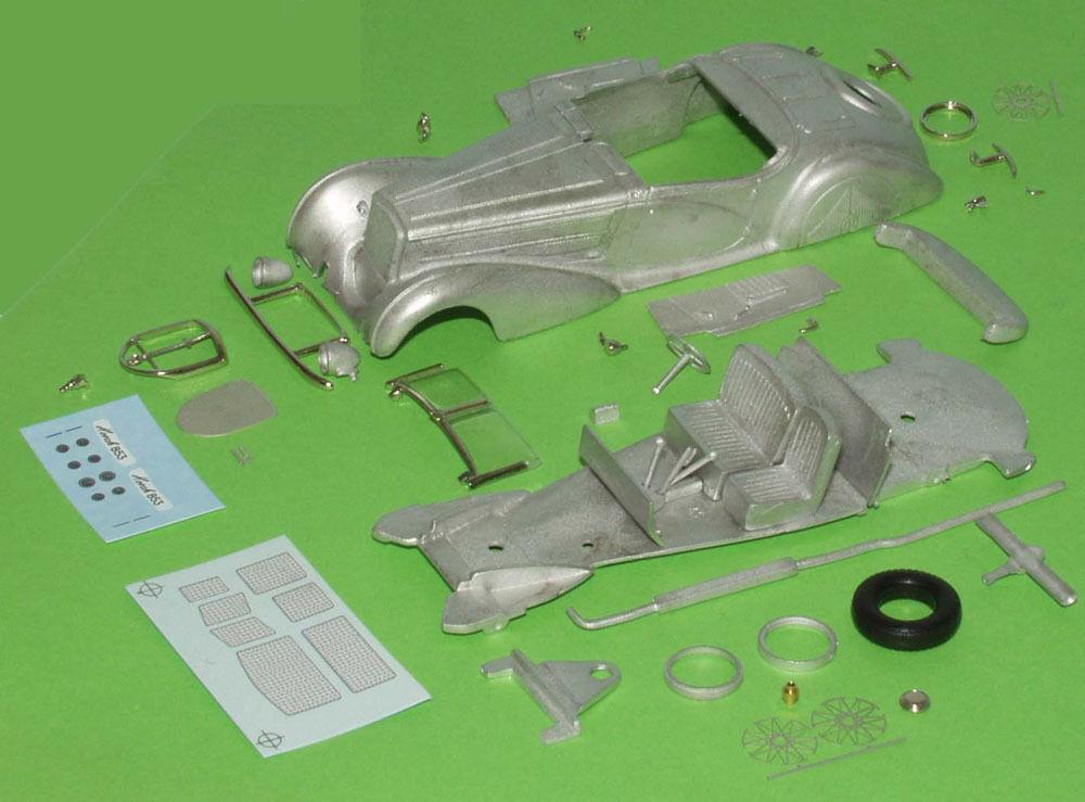 Horch 853 Cabriolet  Erdmann&Rossi  Pebble Beach Bausatz Weissmetall 1 43 321-02