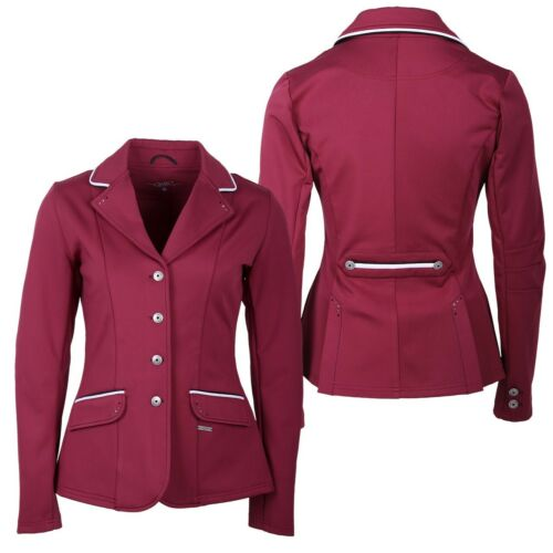NEW QHP KIDS RIDING  SHOW JACKET COCO SALSA RED COLOUR EXCLUSIVE