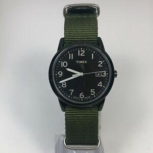 Timex Mens Indiglo Classic Weekender Date Analog Quartz Wristwatch Nylon Band