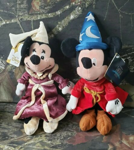 Disney Store Fantasia Sorcerer Mickey Guinevere Minnie Mini Bean Bag Plush DI