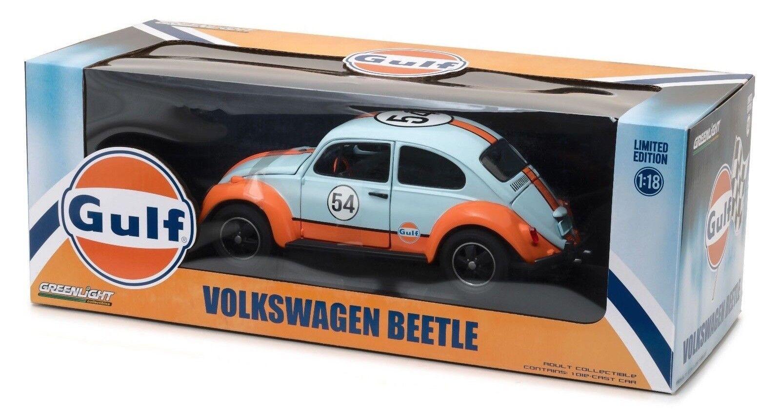 Greenlight  Volkswagen Beetle Gulf Oil Racer 1 18 Scale Diecast Dispatched in uk