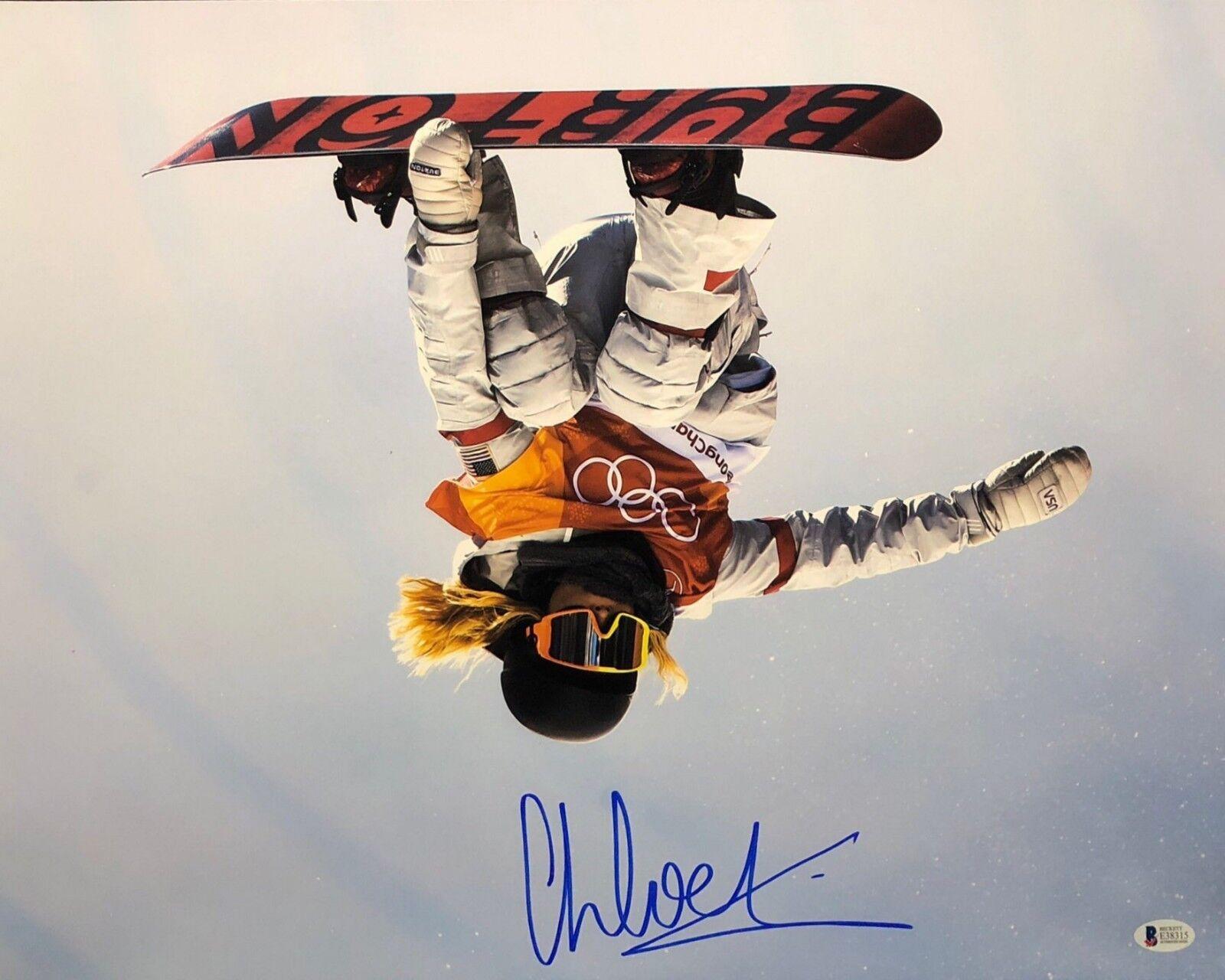 Chloe Kim Signed USA Olympics Snowboarding 16x20 Photo *Gold Medalist BAS E38315