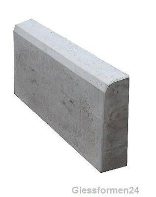 Zwei Schalungsformen Beton /& Gips Giessformen für Randstein 50 cm x 21 cm x 7 cm