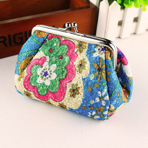 Retro Ladies Change Coin Holder Girl Purse Small Wallet Clip Mini Clutch Handbag