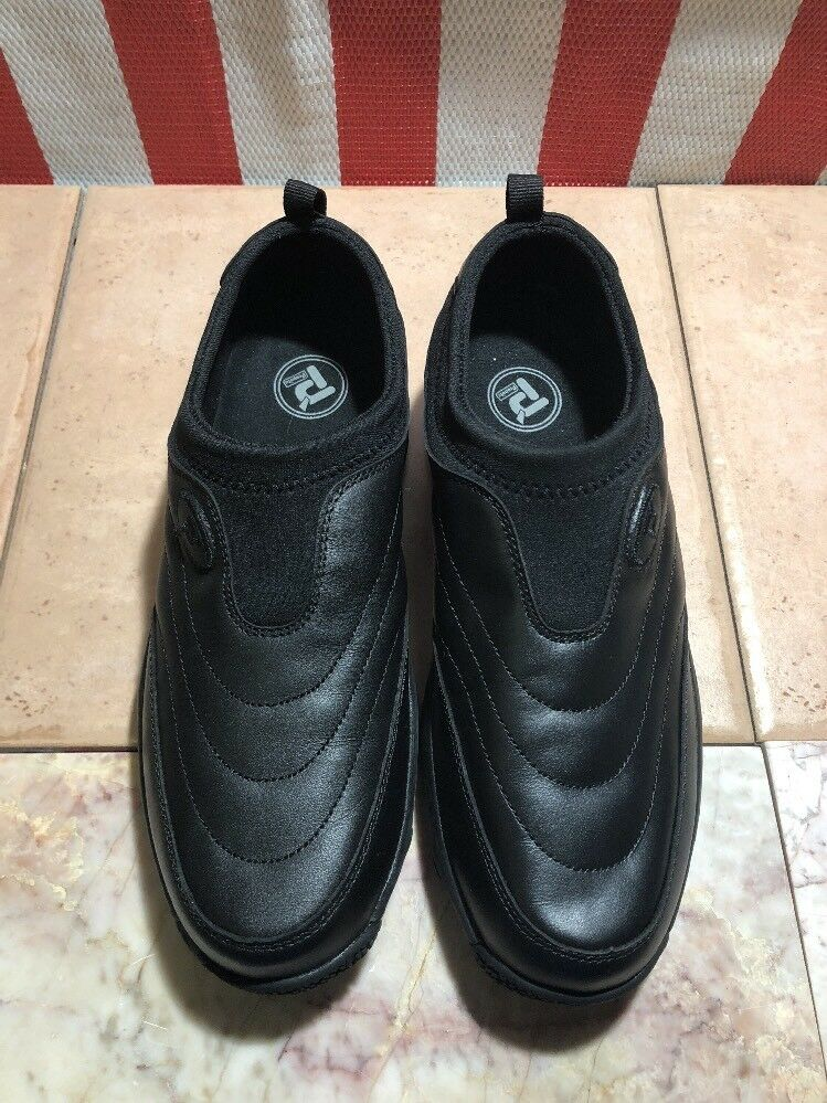Propet Slip-Ons Mens Shoes Size US 7.5 Leather Upper (M3850) Black