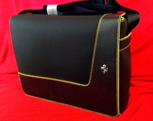 GENUINE-Ferrari-Borsa-Tracolla-034-CARBON-034-SHOULDER-LUXUY-BAG