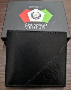 Gian-Marco-Venturi-Men-039-s-Wallet-100-Leather-Credit-Card-Holder-amp-Money-Clips