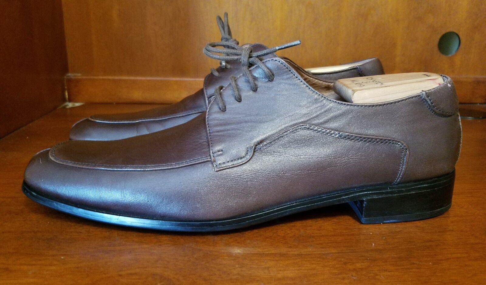 Uomo Bacco Bucci Studio marrone Split Split Split Toe Pelle Oxford Scarpe Taglia 10 ca2f44