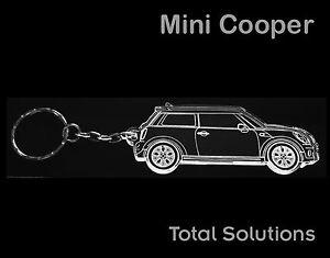 Mini Cooper Acrylic Plastic Car Shape Keyring Laser Cut