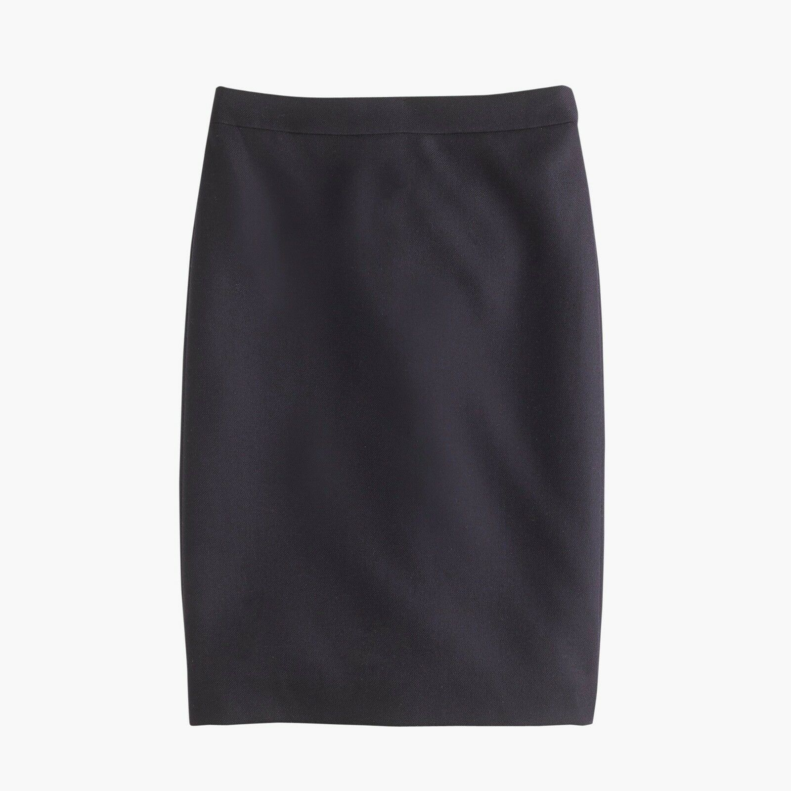 J.Crew No.2 Double-Serge Wool Pencil Skirt 00P Navy
