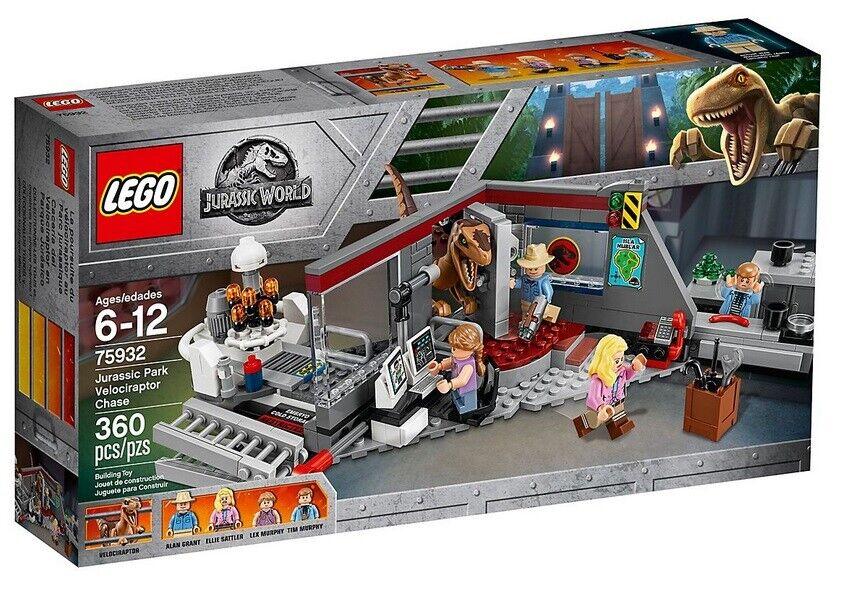 LEGO ® ® ® 75932 Jurassic World Park  chasse aux un Vélociraptor  NOUVEAU & NEUF dans sa boîte 5a3b5a