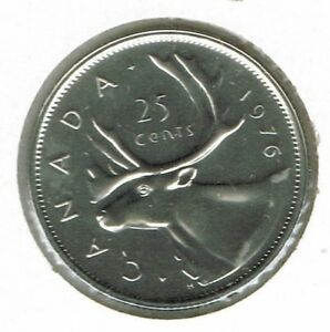 1976-Canadian-proof-Like-Strike-Caribou-25-Cent-Coin