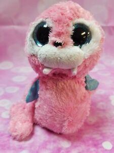 Tusk-6-034-Ty-Beanie-Boos-Pink-Walrus-Plush-Stuffed-Animals-Toy-BIN78