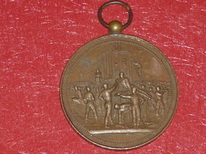 [Coll.J.DOMARD SPORTS]  MEDAILLE GYMNASTIQUE ESCRIME 1885 PALAIS ROYAL PARIS