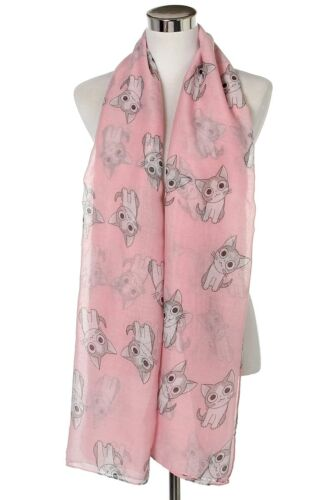CAT Print Pattern Scarf Stole