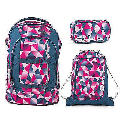satch Pack 3er Set Pink Crush Rucksack, Sportbeutel & Schlamperbox