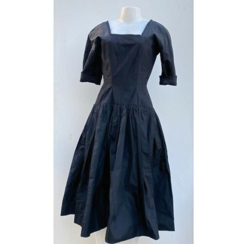 Gigi Young Originals Vintage Black 1950's Taffeta