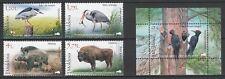 Moldova 2018 Fauna Animals, Birds 4 MNH stamps + Block