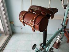 Brooks,Vintage Honey Leather bicycle saddle bag HANDMADE for Brompton