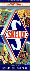 Details about 1952 Skelly Road Map: Southeastern United States NOS