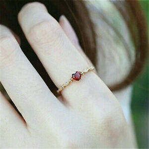Women-039-s-Fashion-Ruby-and-Diamond-Ring-16k-Gold-Engagement-Ring-Sz6-10-Gift