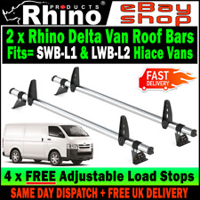 Rhino Delta 3 Bar Heavy Duty Roof Rack for Toyota HiAce SWB 1997 on