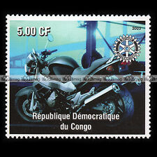 ★ HONDA CB 1100 SF X11 X-ELEVEN ★ CONGO Timbre Poste Moto 2003 / Stamp #169