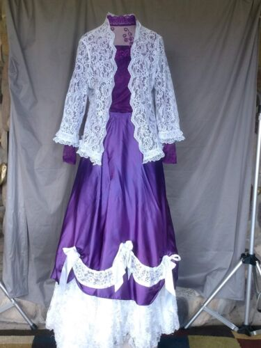 Victorian Dress Edwardian Womens Civil War Style W