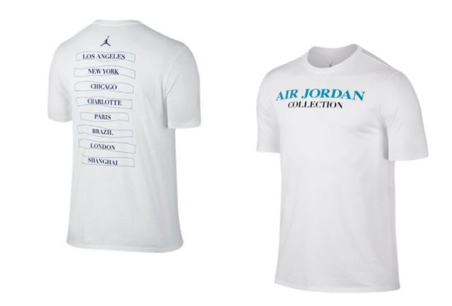 Nike Air Jordan 10 Collection T-Shirt Men's 789607-100 White Concord Size Medium