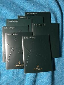 Rolex-DateJust-Booklets-1999-2012-Choose-Date