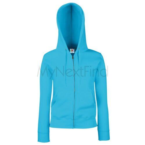Fruit of the Loom Premium 70//30 Womens Lady-Fit Hoodie Hooded Sweatshirt Jacket