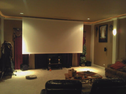 """100/"""" Projector Screen Projection Screen RAW Material DIY Plans For Fixed Frame"""