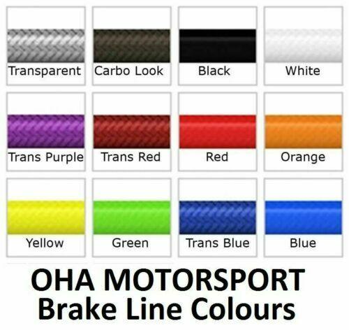 OHA Stainless Braided F/&R Brake Line Kit for Honda VFR400 R NC24 1987-1989 NEW