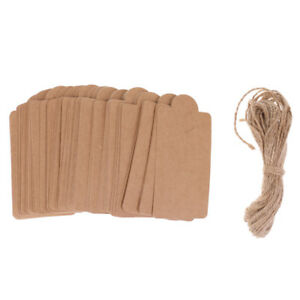 100-PCS-Kraft-Paper-Wedding-Party-Gift-Tags-with-Jute-Twine-String-5m-Brown