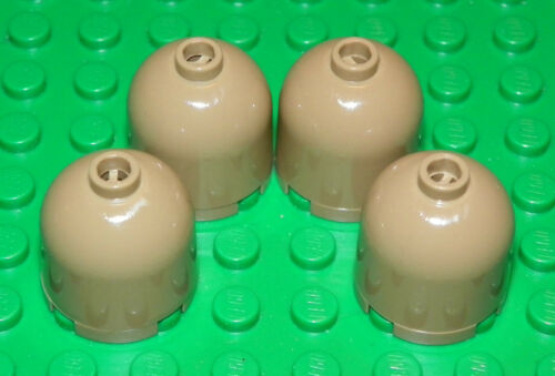 X4 Dark Tan Round 2 x 2 x 1 2//3 Dome Top Lego Brick