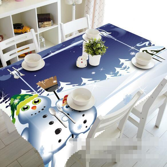 3D Fun Snowman 56 Tablecloth Table Cover Cloth Birthday Party Event AJ WALLPAPER