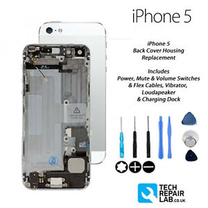 detailed look 1195b f10fd Details about Complete iPhone 5 Back Cover Housing Assembly Replacement Pre  Assembled - WHITE