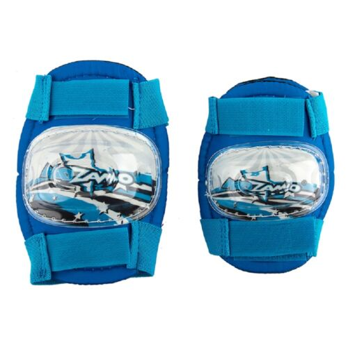 Kidzamo Kids Elbow//Knee Pad Set Blue Stars Bicycle Protection Kit Bike Training