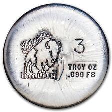 3 oz Silver Round - Bison Bullion - SKU #94977