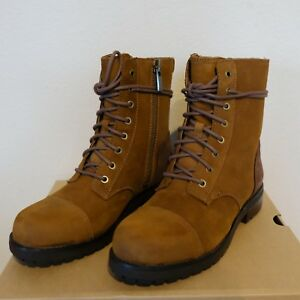 468abb0b947 Details about Ugg Women's Kilmer Lace Up Dressy Military Suede Shearling  Boots